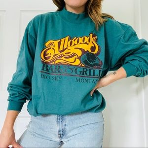 Retro Teal Montana Long Sleeve